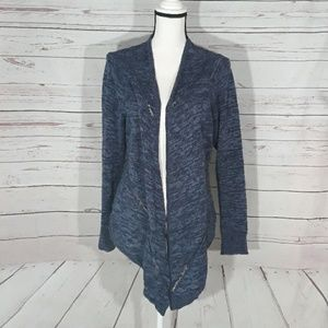 100% cotton navy blue open front cardigan size 0